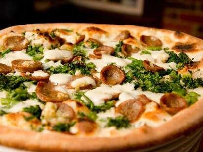 Bella Napoli Pizzeria broccoli and sausage pizza thrillist
