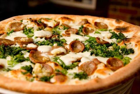 Bella Napoli Pizzeria broccoli and sausage pizza thrillist