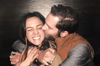 kissing photo