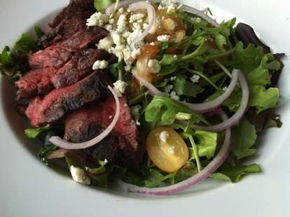 CHA spirits & pizza kitchen steak in salad cleveland