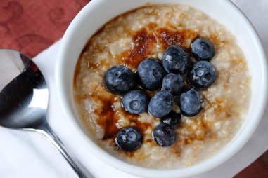 steel cut oats with blueberries