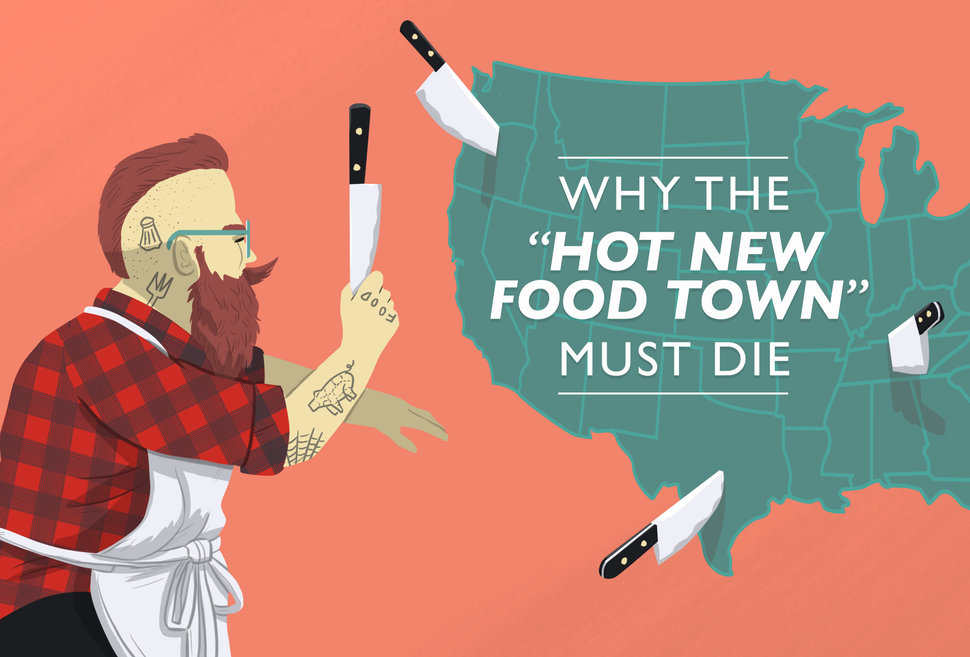 Hot New Food Town illustration