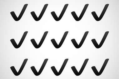 black check mark emoji