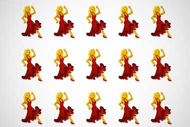 dancing lady emoji