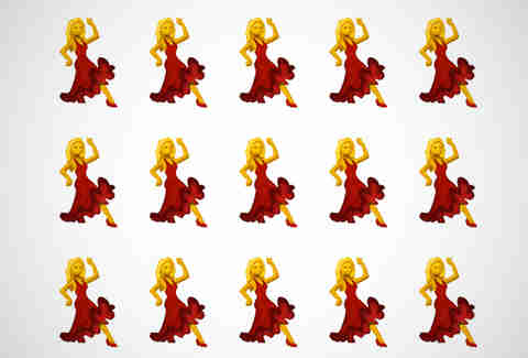 dancing lady emoji
