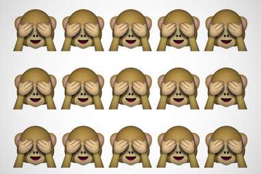shy monkey emoji