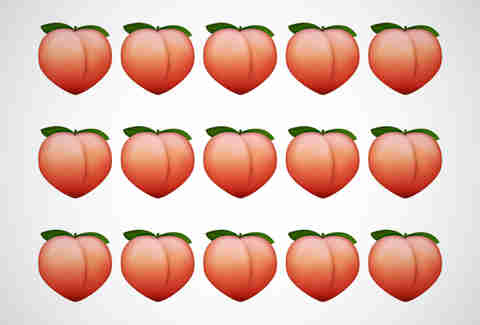 The peach emoji