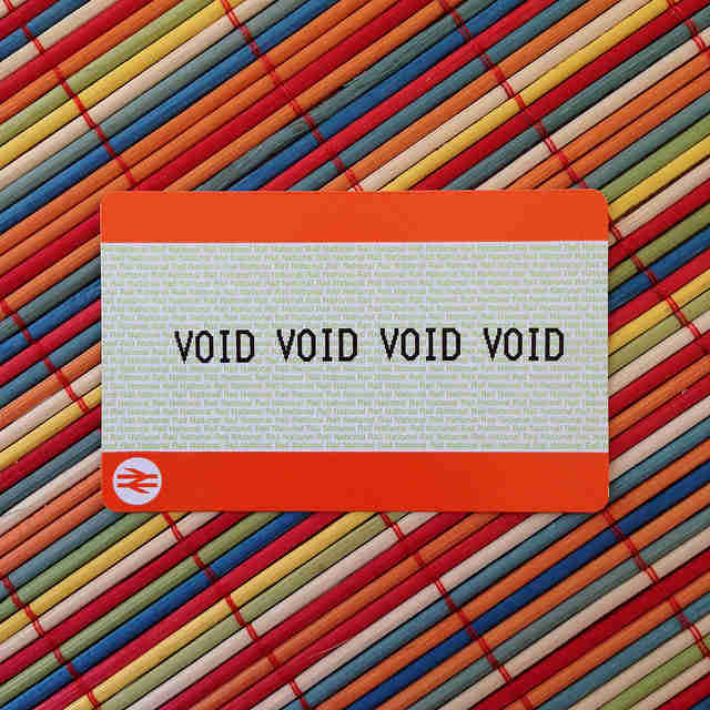 Voided card