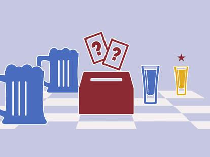 Nina Gonzales illustration of election drinking game