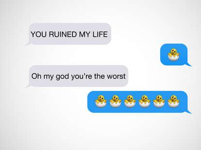 chicken in egg emoji text