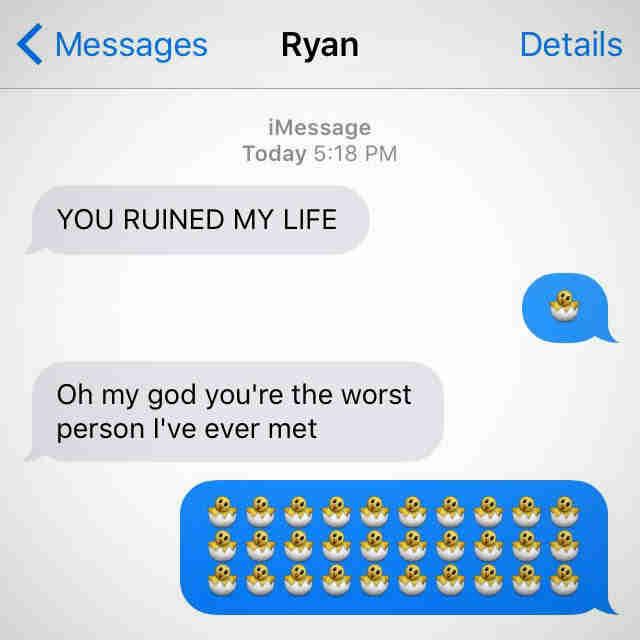 Sexual emoji texts