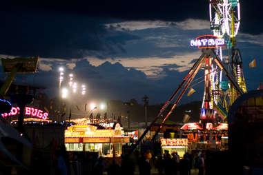 Iowa State Fair at night
