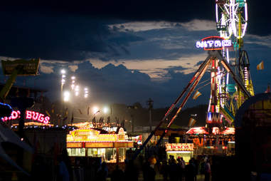 Iowa State Fair at night