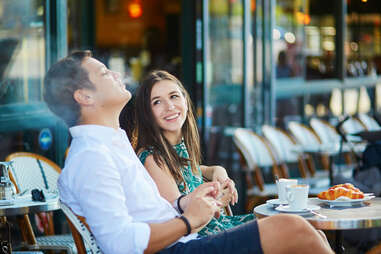 couple on a date smoking