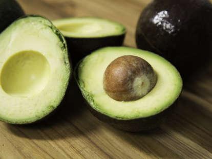 freshly opened avocado