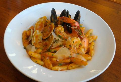 mussels, clams and shrimp house-made pasta