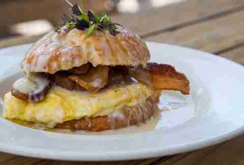 Beaver's breakfast sandwich