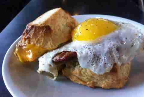 breakfast sandwich from Blacksmith