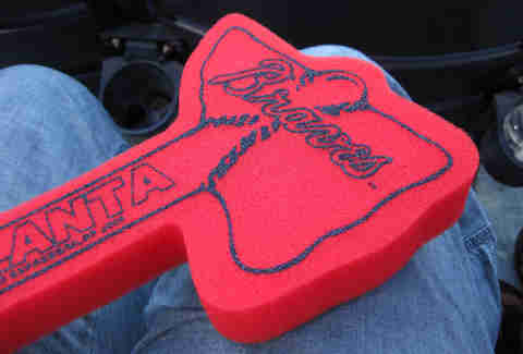 Braves foam finger