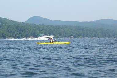 kayaker on Lake George