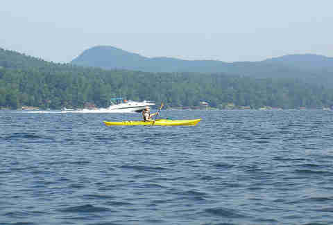 kayaker on Lake George