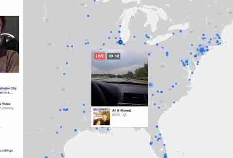 People Driving on Facebook Live