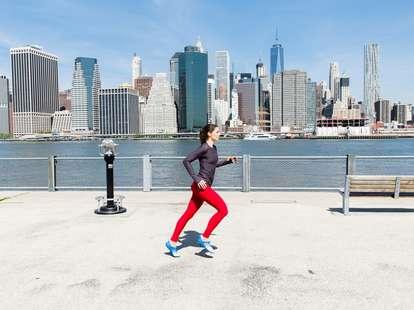 girl running in NYC
