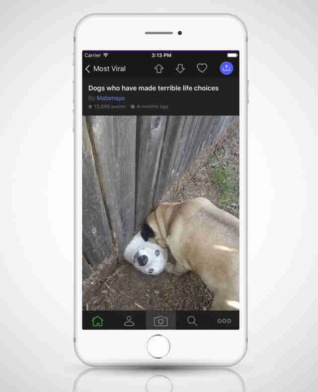 screenshot of imgur app on iphone 6