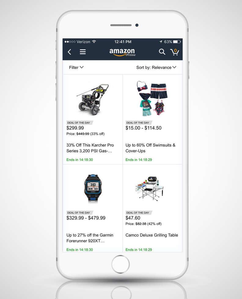 screenshot of Amazon app in iphone 6