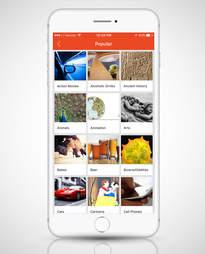 Screenshot of StumbleUpon app in iPone 6s