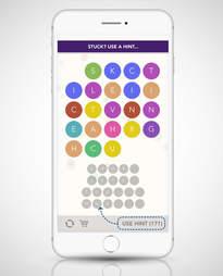 screenshot of WordBubbles app on iphone 6