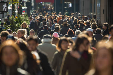 New york pedestrians crowded street