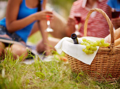wine picnic in the summer
