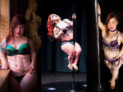 Viva La Muerte the Pint Size Pepper four foot stripper