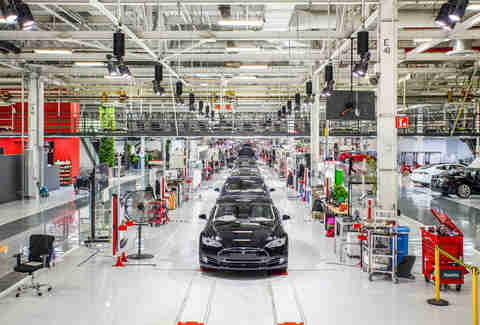 Tesla's Model S Factory in Fremont, CA