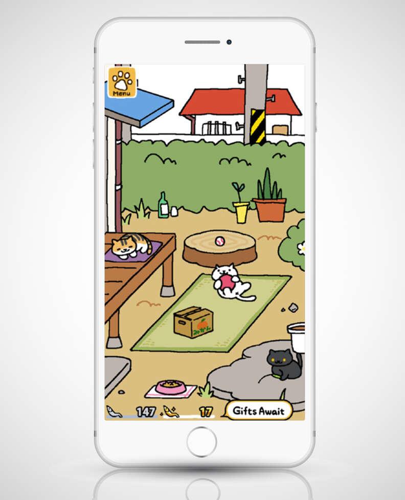 screenshot of neko atsume in iphone 6