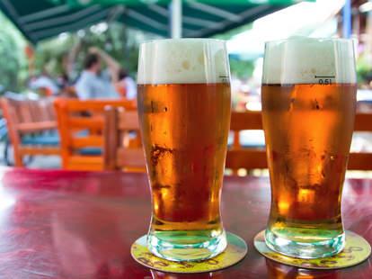 beer outdoors