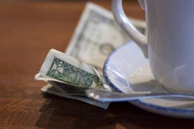 coffee shop tip