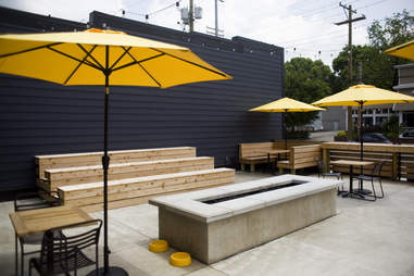 The Hub patio