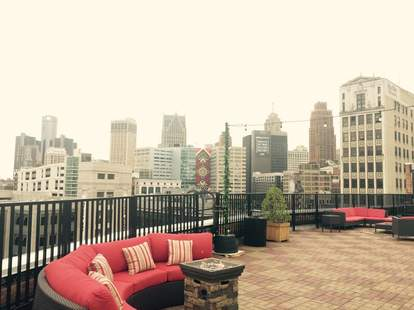 Sky Deck at the Detroit Opera House rooftop