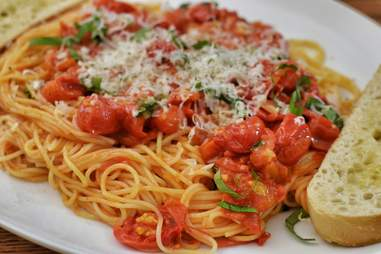 pasta with cherry tomatoes and parmesan cheese