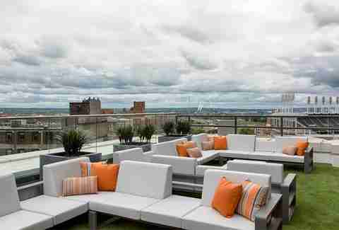 Azure rooftop lounge
