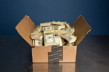 amazon prime box filled with money