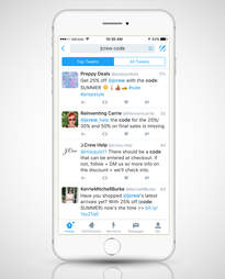 Twitter screenshot on iPhone 6