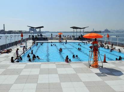 Barretto Point Park Floating Pool