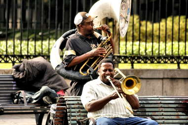 tuba playing New Orleans