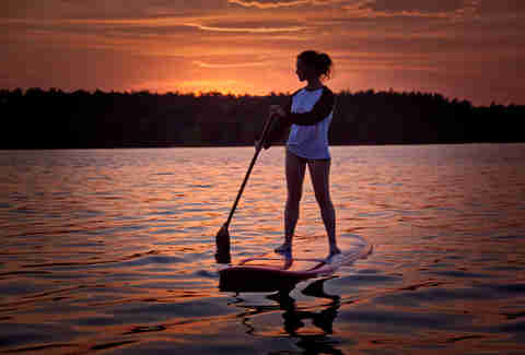 stand up paddle boarder
