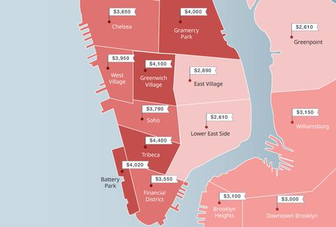 The Most Expensive Neighborhoods in NYC in Spring 2016, According to ...