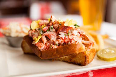 Lobster roll from Shaw's Crab House
