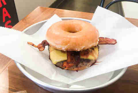18 Thoughts I Had While Downing the Hell out of Tricera Coffee's Donut Burger